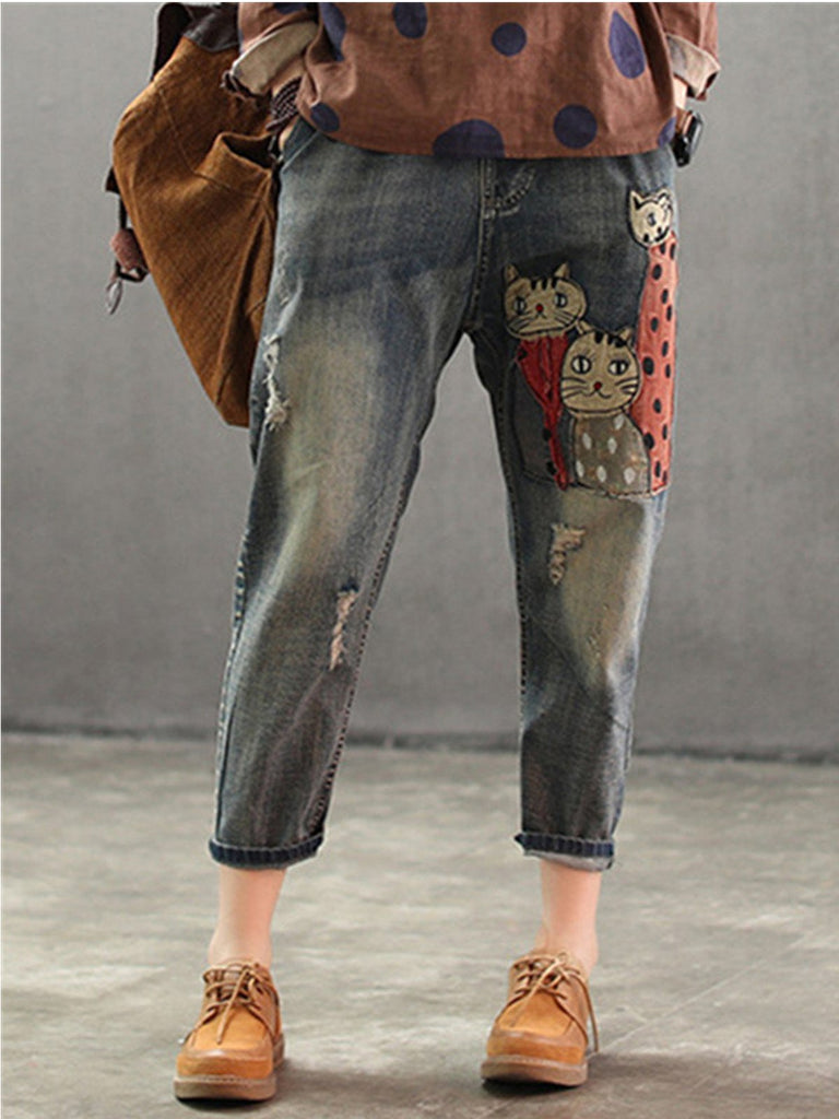 As Picture Sweet Cotton-Blend Pants