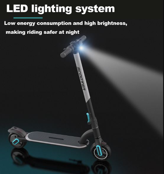 M8 Electric Scooter LED light