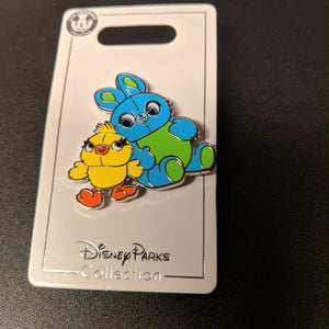 Ducky and Bunny from Toy Story Pin New on Card