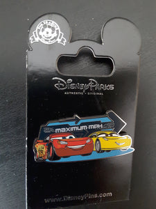 Lightning McQueen and Cruz Maximum MPH from Cars Pin New on Card