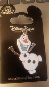 Olaf from Frozen Pin New on Card