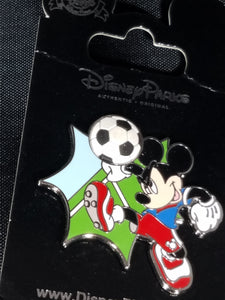 Mickey Mouse Playing Soccer Pin New on Card