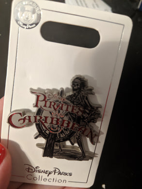 Pirates of the Caribbean Pirate Skeleton Pin New on Card