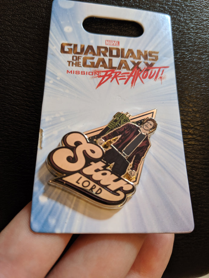Star Lord from Guardians of the Galaxy Pin New on Card