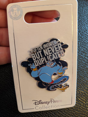 Genie Often Imitated But Never Duplicated Pin New on Card from Aladdin