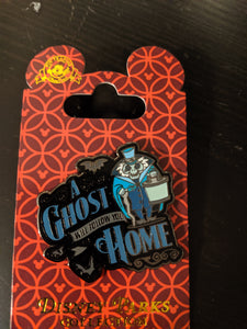 Haunted Mansion A Ghost Will Follow You Home Pin New on Card