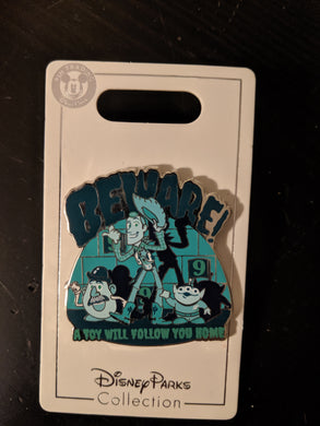 Beware a Toy Will Follow You Home Toy Story and Haunted Mansion Crossover Pin New on Card