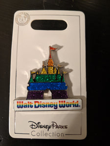 Walt Disney World Rainbow Castle Pin New on Card