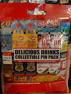 Delicious Drinks 5 Pin Mystery Bag
