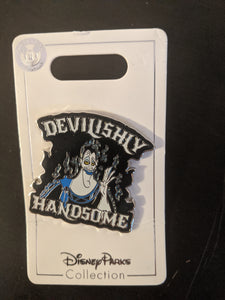 "Hades ""Devilishly Handsome"" Pin New on Card"