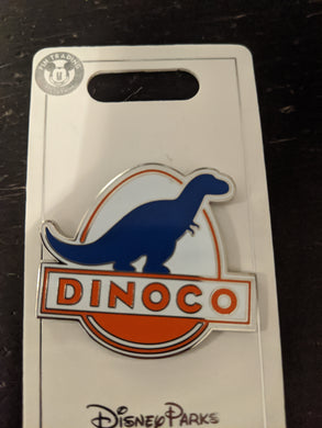 Dinoco from Cars Pin New on Card