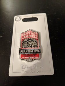 Graveyard Jamboree from Haunted Mansion Pin New on Card