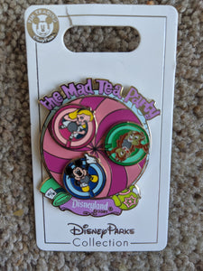 Disneyland The Mad Tea Party Spinner Pin New on Card