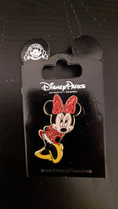 Minnie with Red Gems Pin New on Card