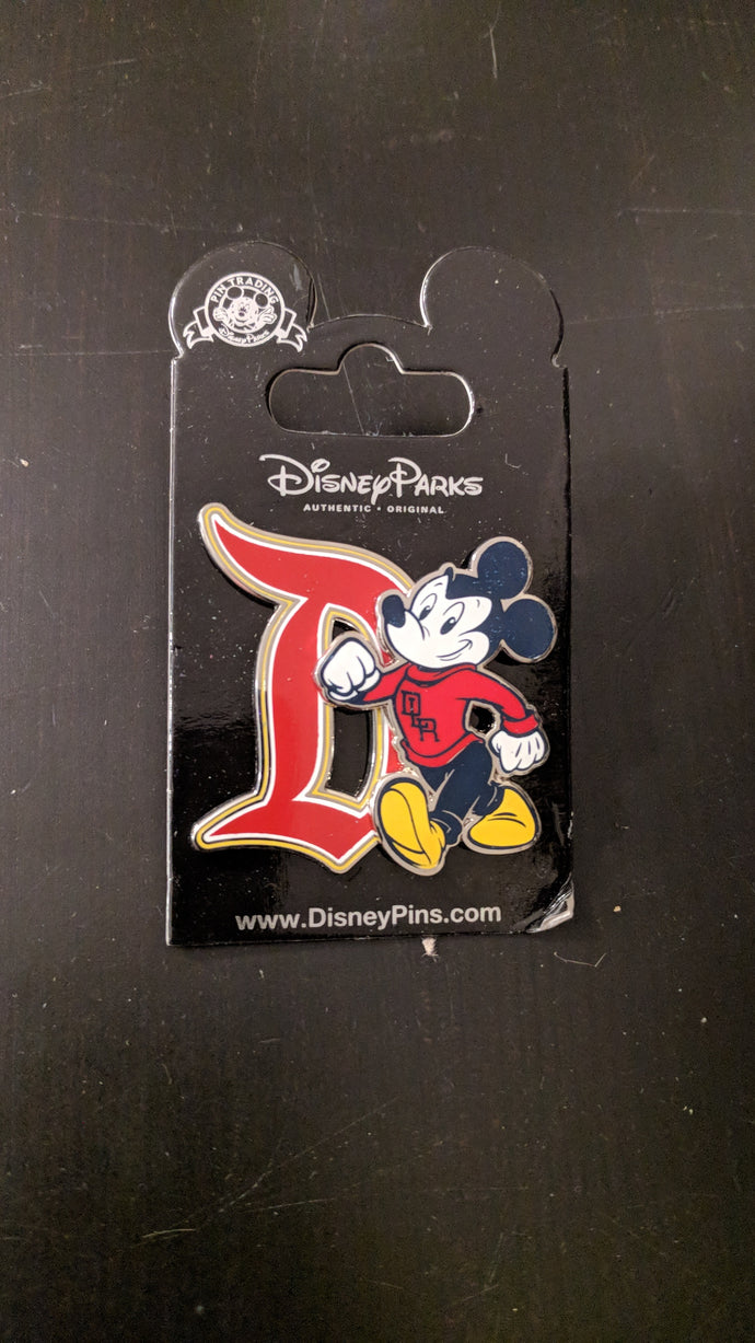 Disney Land Resort (DLR) Collegiate Mickey Pin New On Card