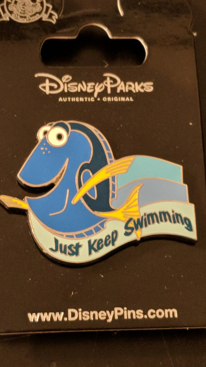 Dory Just Keep Swimming Pin New on Card