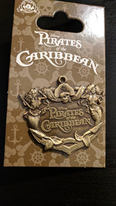 Pirates of the Caribbean Pin New on Card