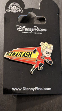 Dash from Incredibles Back in a Flash Pin