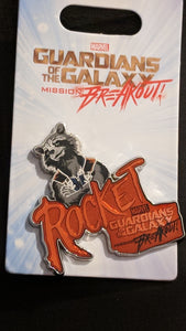 Guardians of the Galaxy Rocket Pin New on Card