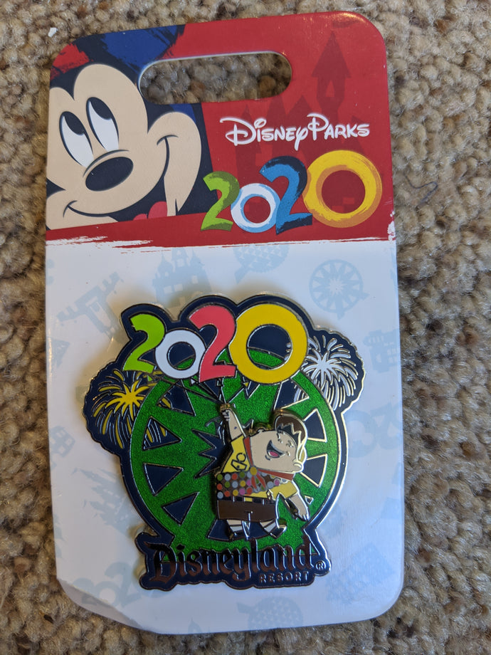 2020 Disneyland Up Pin New on Card
