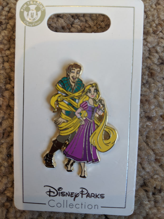 Flynn and Rapunzel Pin New on Card