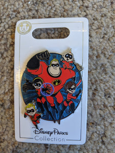 Incredibles Family Pin on Pin New on Card