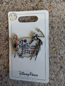 Jack and Sally Now and Forever Pin New on Card
