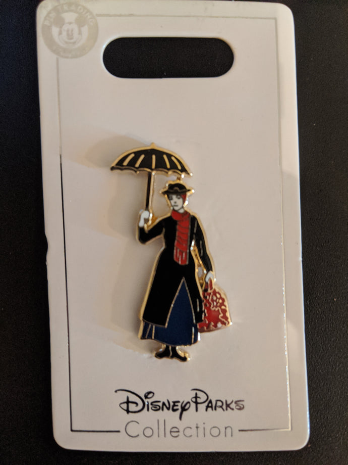 Mary Poppins Wearing Her Black Dress Pin New on Card