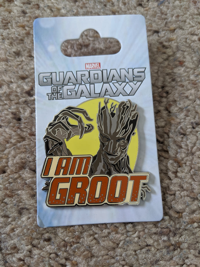 Marvel Groot from Guardians of the Galaxy I am Groot Pin New on Card