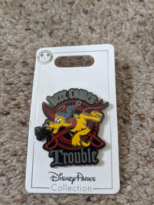 Pirate Pluto Here Comes Trouble Pin New pn Card