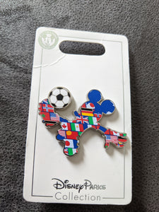 Epcot Flags Soccer Mickey Pin New on Card