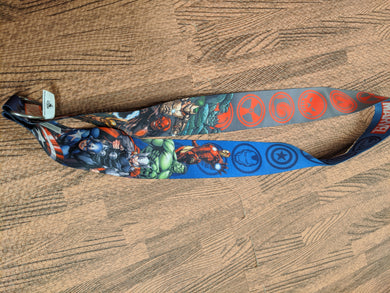 Avengers Wide Lanyard Heros and Villains
