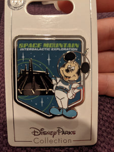 Space Mountain Mickey Pin New on Card
