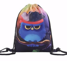 Load image into Gallery viewer, Fun Owl Drawstring Bag