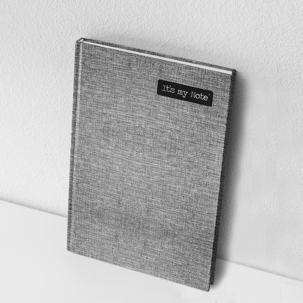 Grey Adore | Sleek Classic Hard Cover Note Book