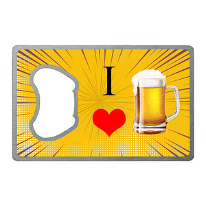 I ♥ Beer | Card Bottle Opener