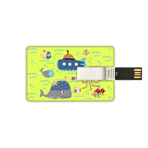 Cute Fishes and Submarine | Card Pendrive