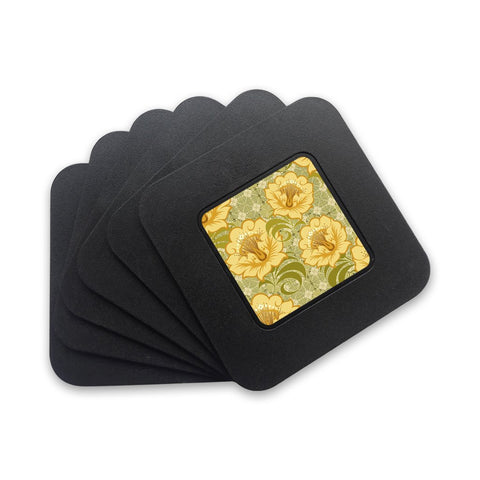 Yellow Flowers Art | Restyle Coasters