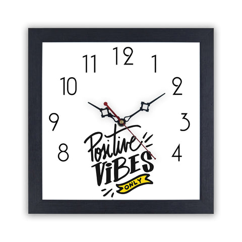 Positive Vibes only | Wall Clock