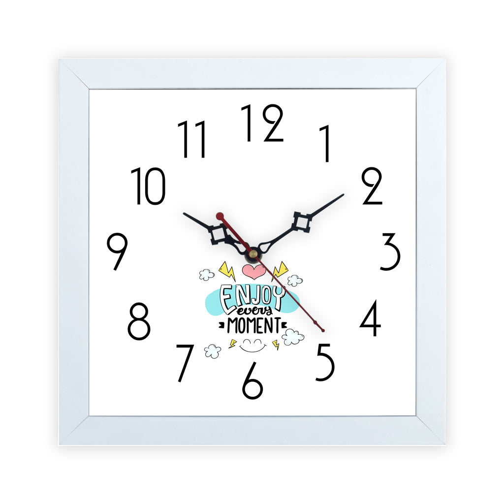 Enjoy Every Moment | Wall Clock