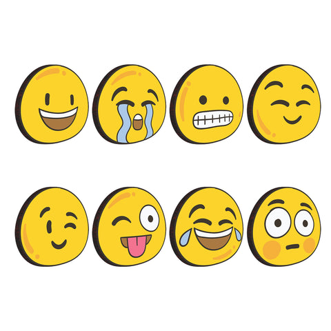 Emoticons Expressions | Set of 8 | Trendy Fridge Magnets