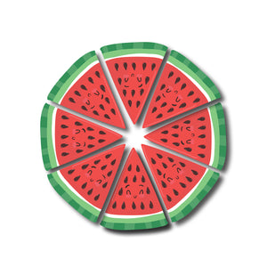 Water Melon Whole | Set of 8 | Trendy Fridge Magnets