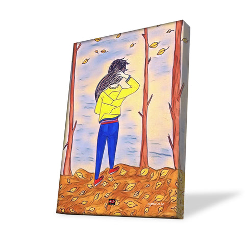 Girl in the woods | Art Canvas Wall Decor | Artist Farha