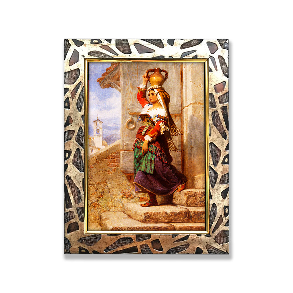 Lady with the Pot | Designer Framed Wall Decor