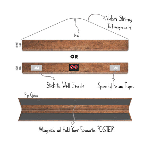 Wood Land Brown | Magnetic Poster Holder