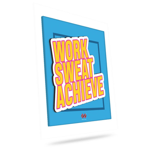 Work Sweat Achieve | 3D Wall Tile
