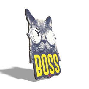 CATTITUDE BOSS | Wall Decor