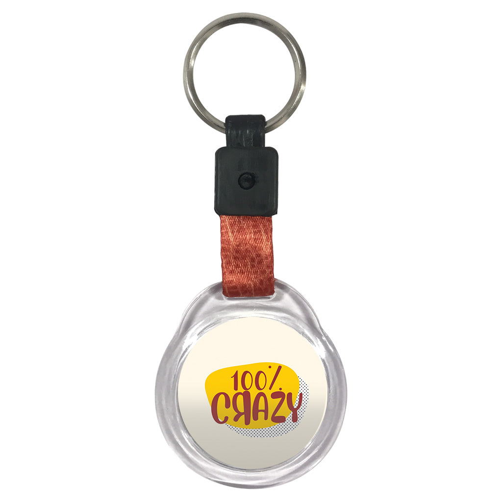 100% Crazy | Crystal Key Chain