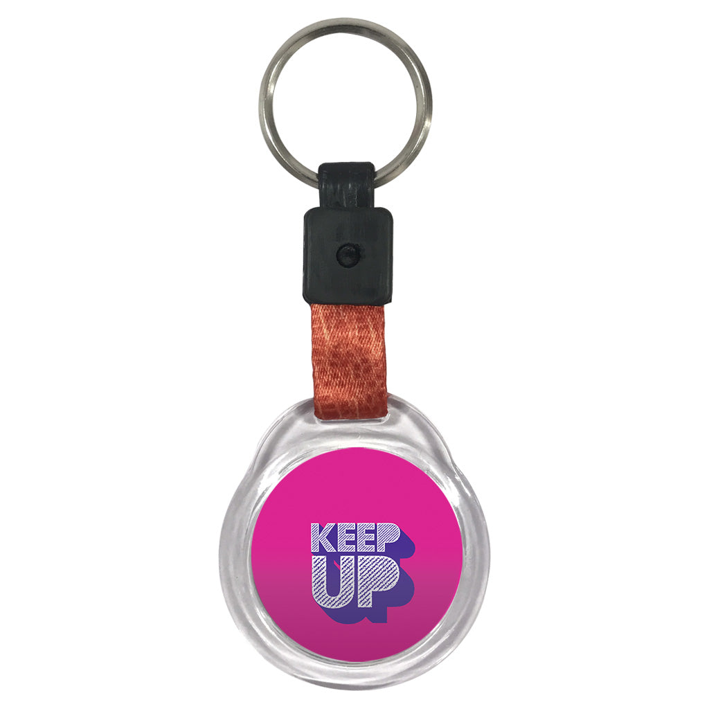 Keep Up | Crystal Key Chain