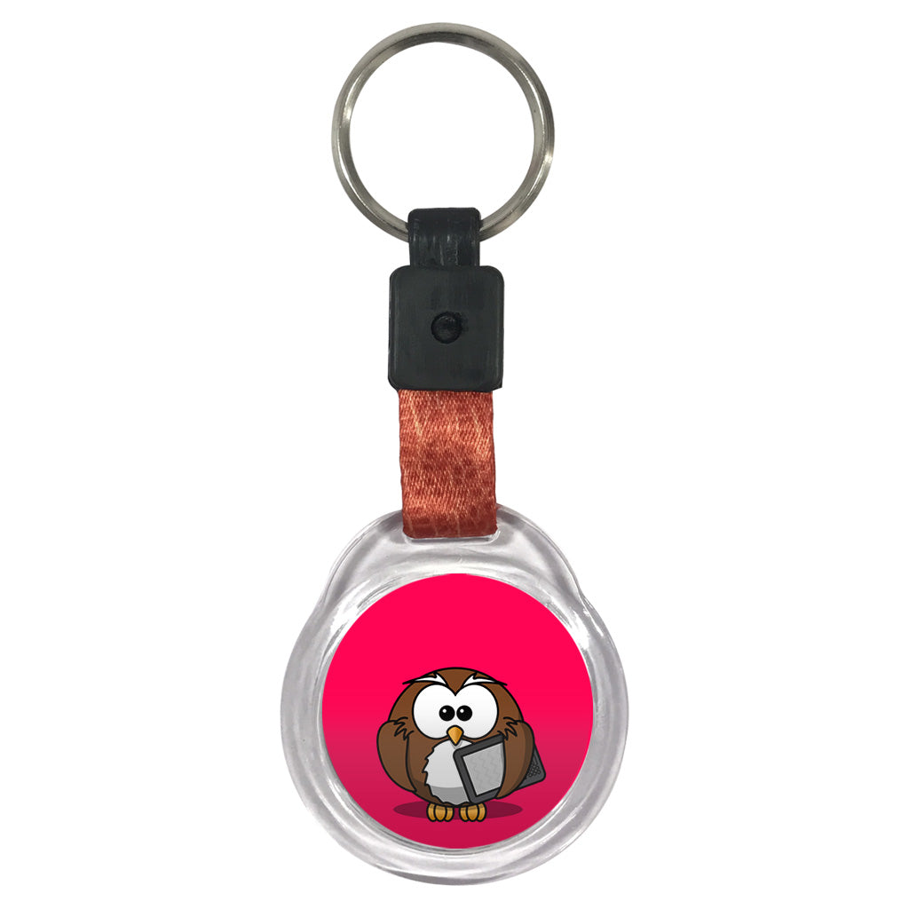 Study Owl | Crystal Key Chain